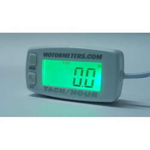White Hour Meter : White digital backlight hour meter
