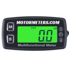 Mini Deluxe Digital Backlight Tach/Hour/Temp Multifunction Meter
